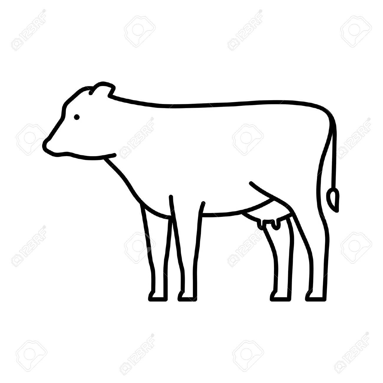Cow line icon. Icon design. Template elements - 134493155