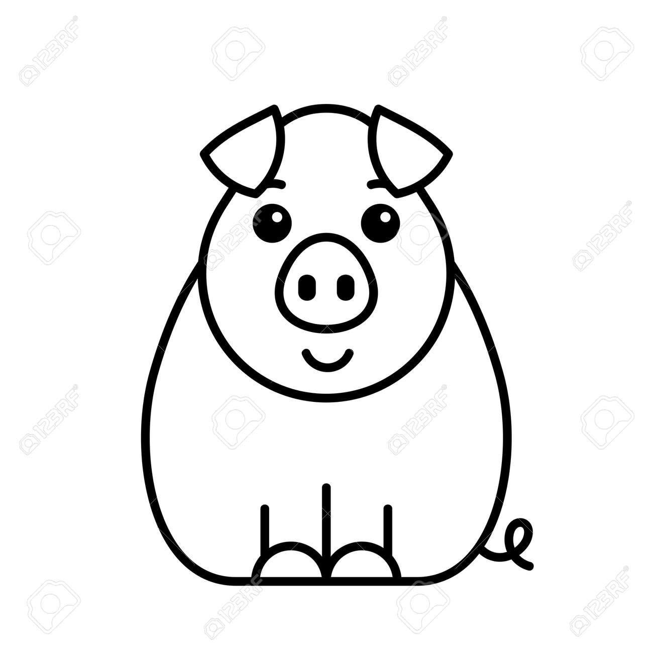 Pig icon. Icon design. Template elements - 171231630