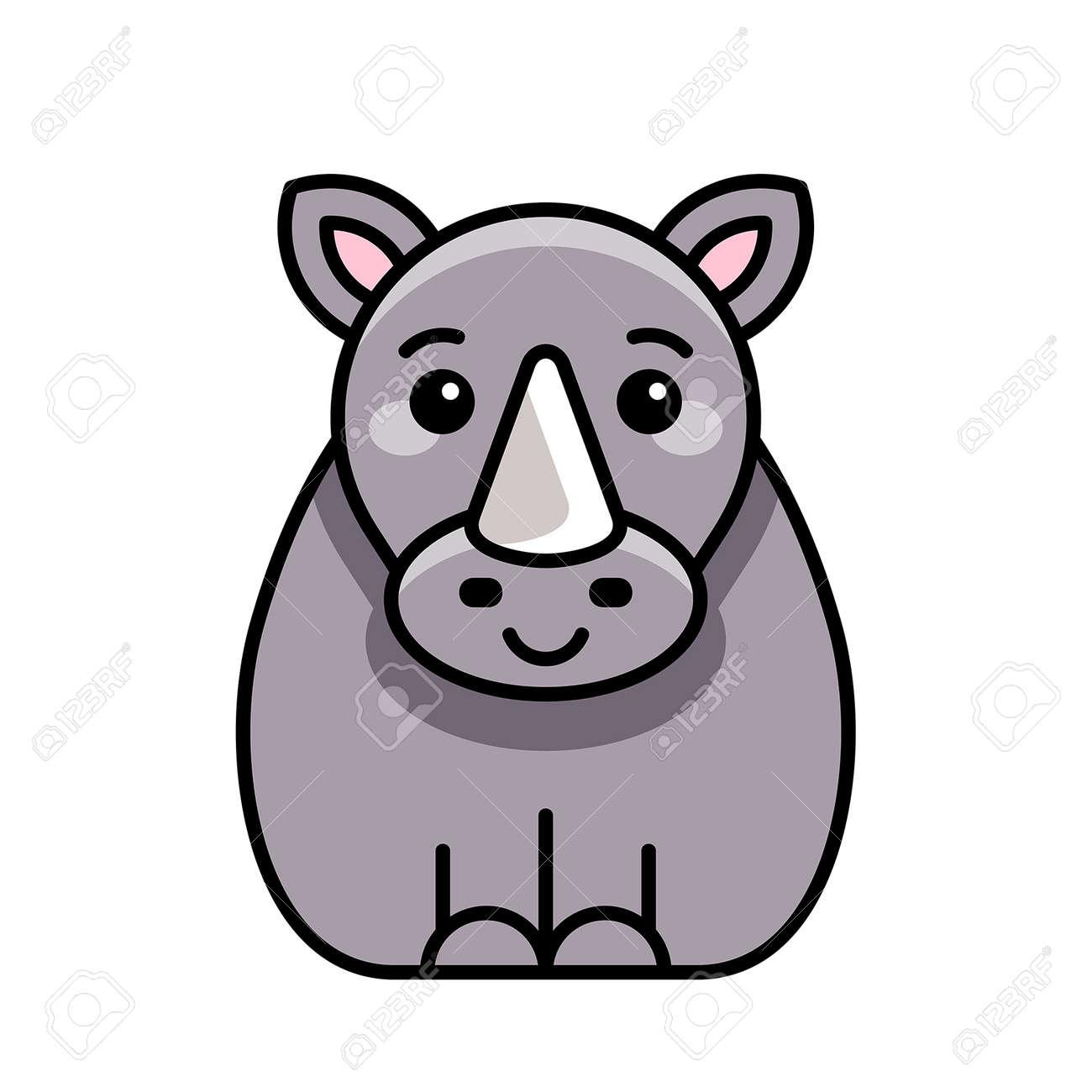 Rhinoceros icon. Icon design. Template elements - 171231644