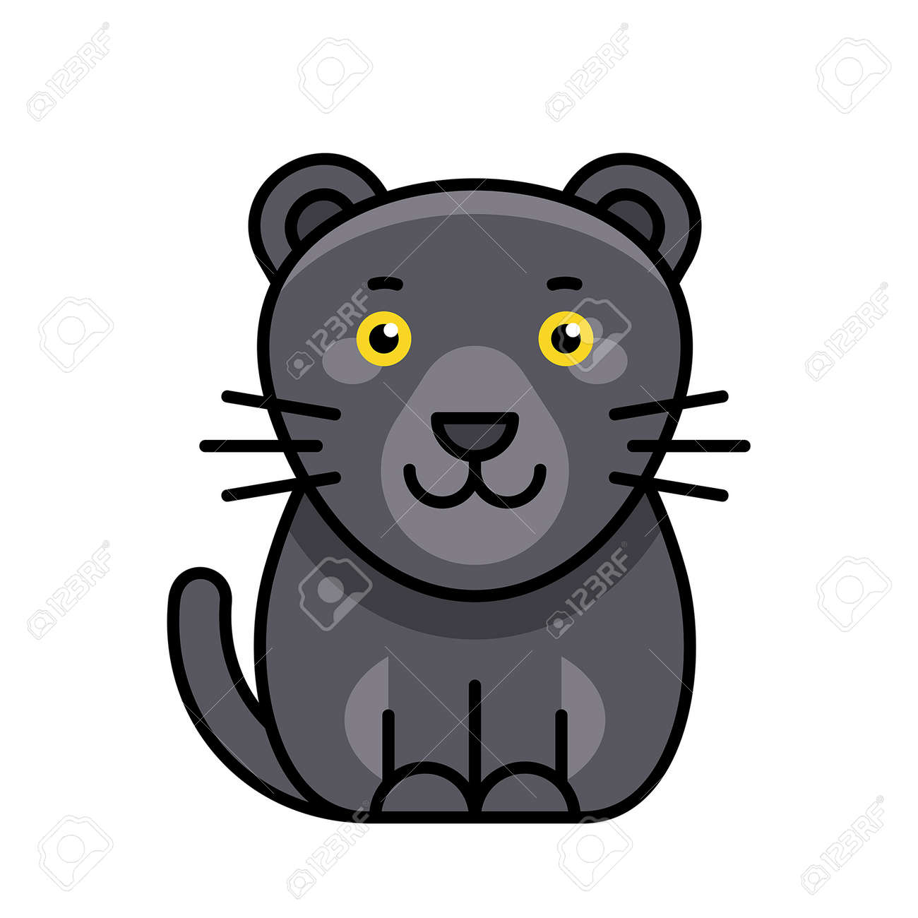 Panther icon. Icon design. Template elements - 171231651