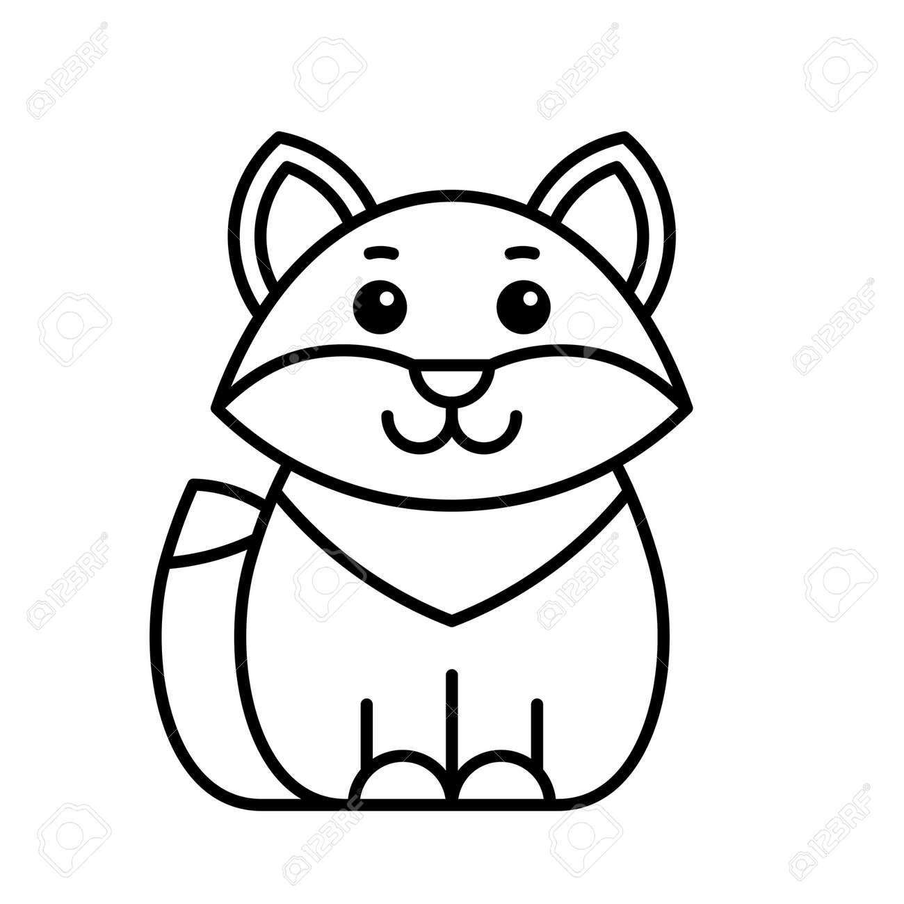 Fox icon. Icon design. Template elements - 171231655