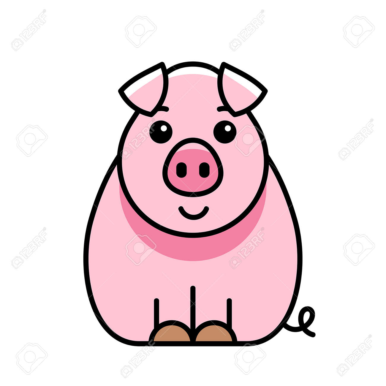 Pig icon. Icon design. Template elements - 171231669
