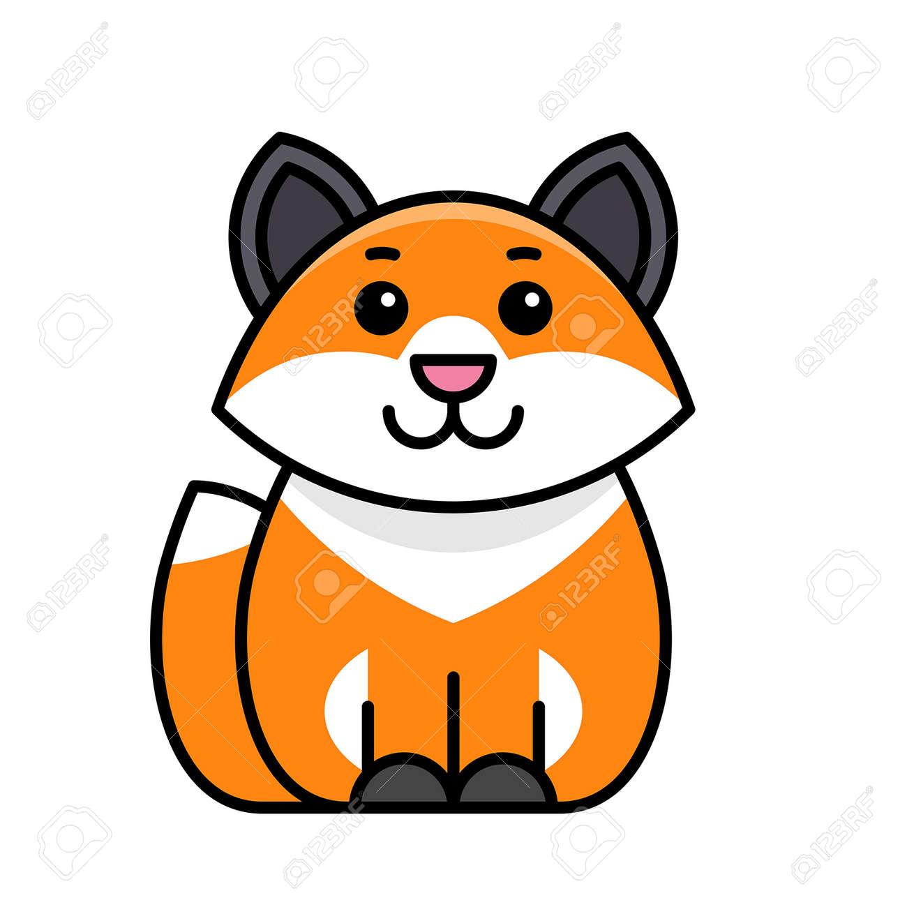 Fox icon. Icon design. Template elements - 171231696