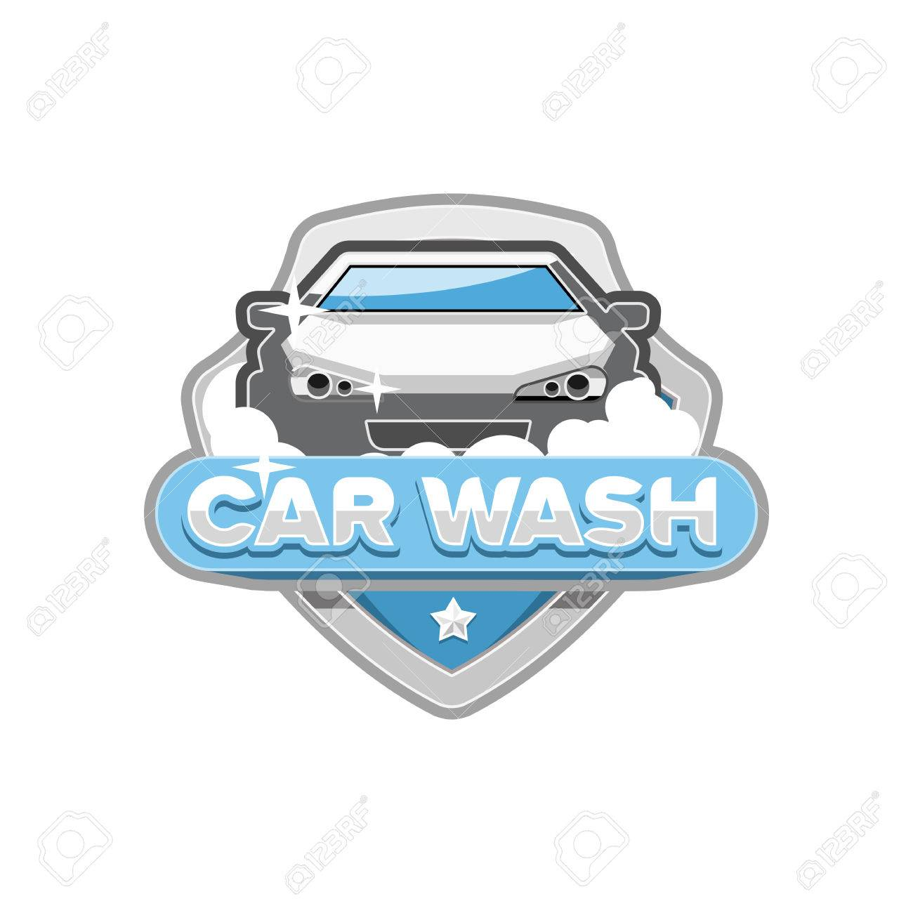 Car Wash Logo Design Template Royalty Free Cliparts Vectors And