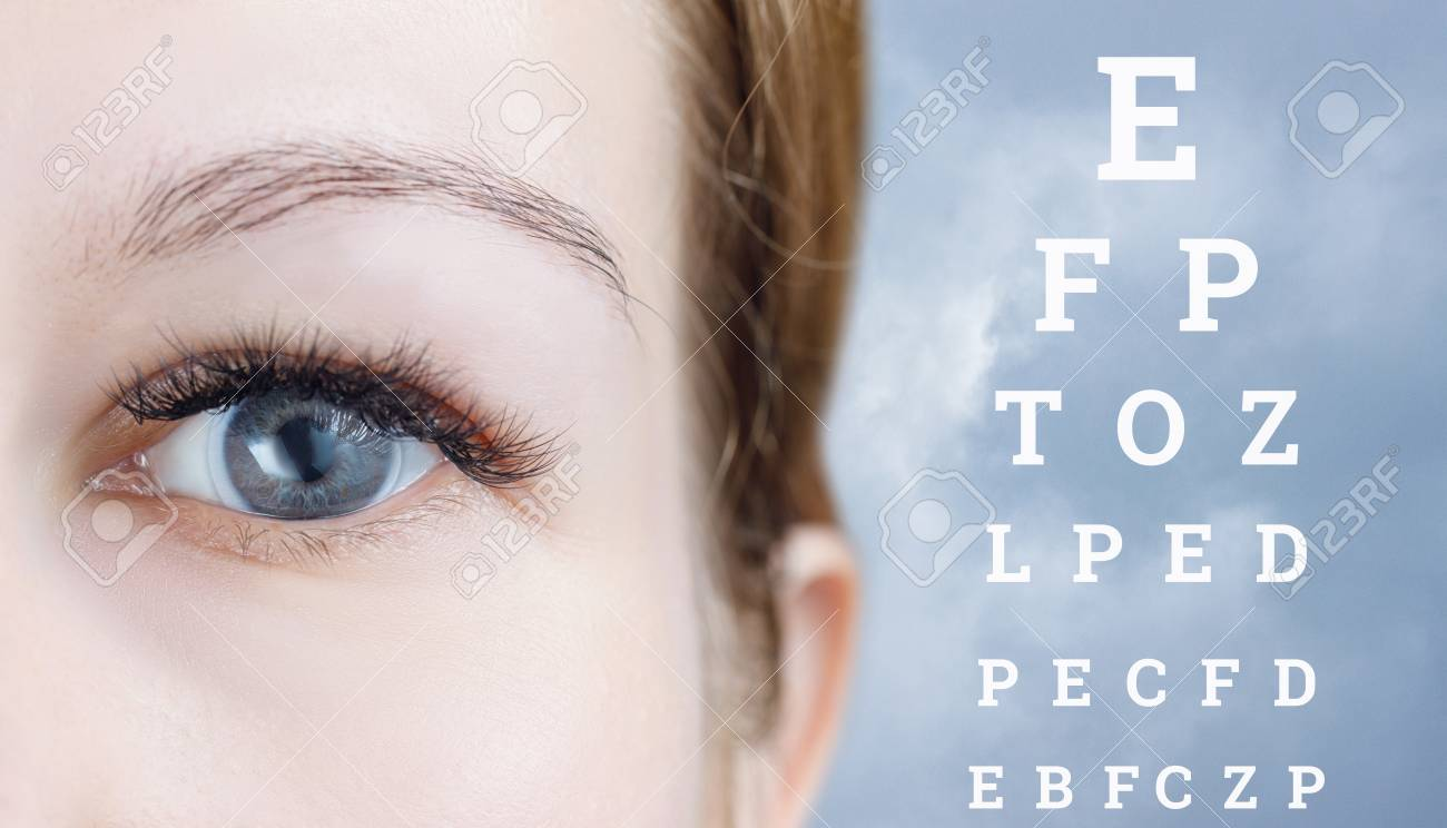 A Closeup Of A Female Eye With Transparent Soft Contact Lens Stock Photo Picture And Royalty Free Image Image 116825200