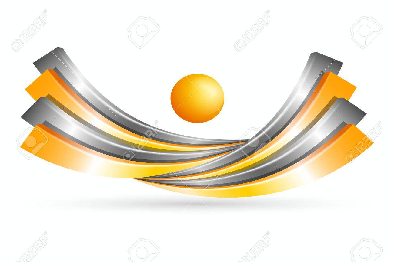 Bright Abstract 3d Symbol Metal Of Creative Design Graphic High Tech