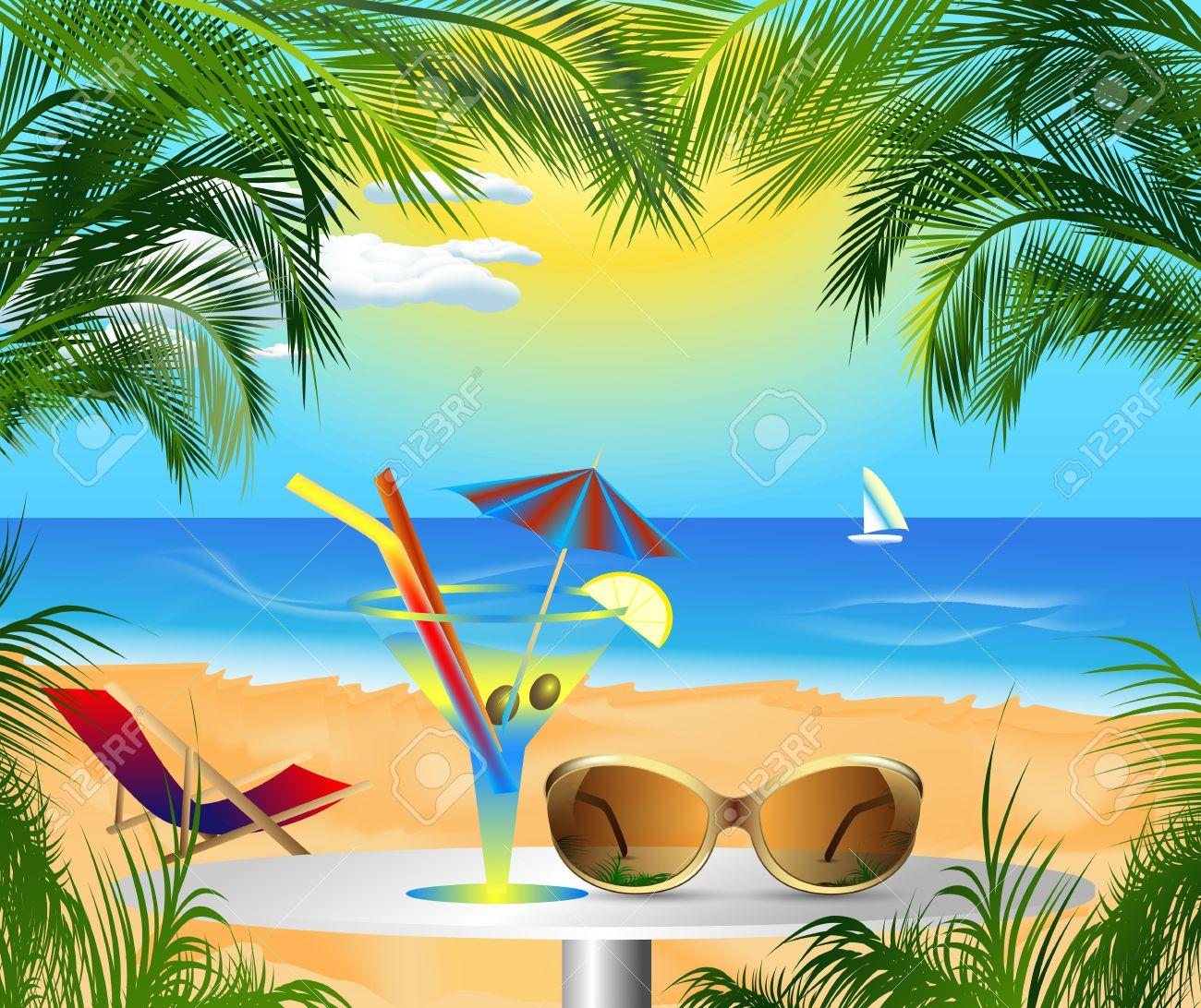 Beautiful Sea Beautiful Card With Summer Sea