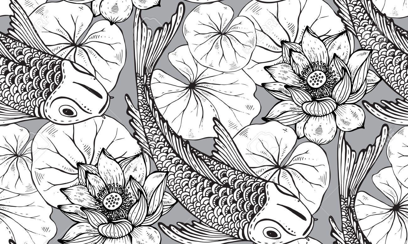 Atemberaubend Japanische Koi Fisch Malvorlagen Fotos - Beispiel ...