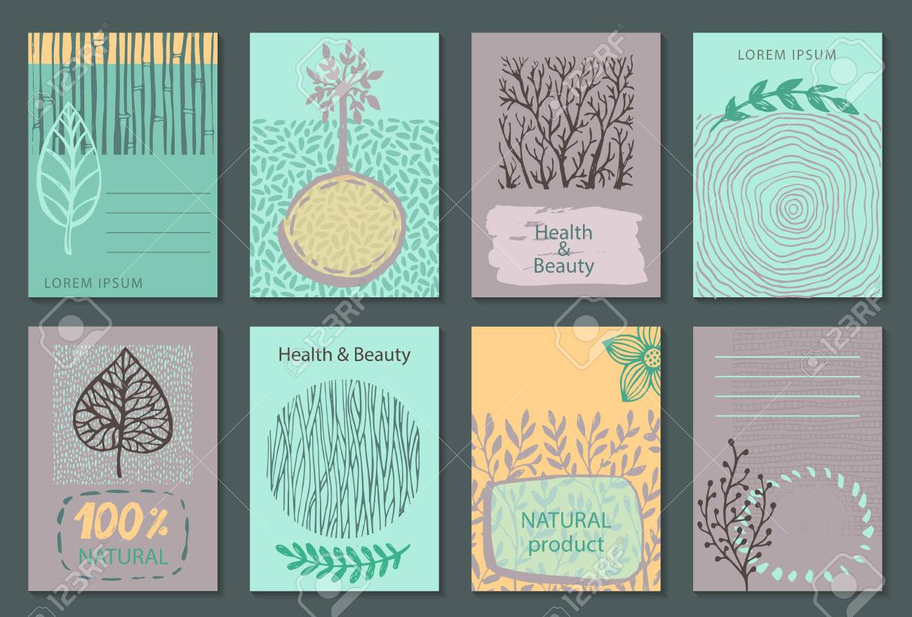 Vector set of eco nature labels or business card templates flyers vector vector set of eco nature labels or business card templates flyers designs for organic natural healthy products ecological posters reheart Image collections