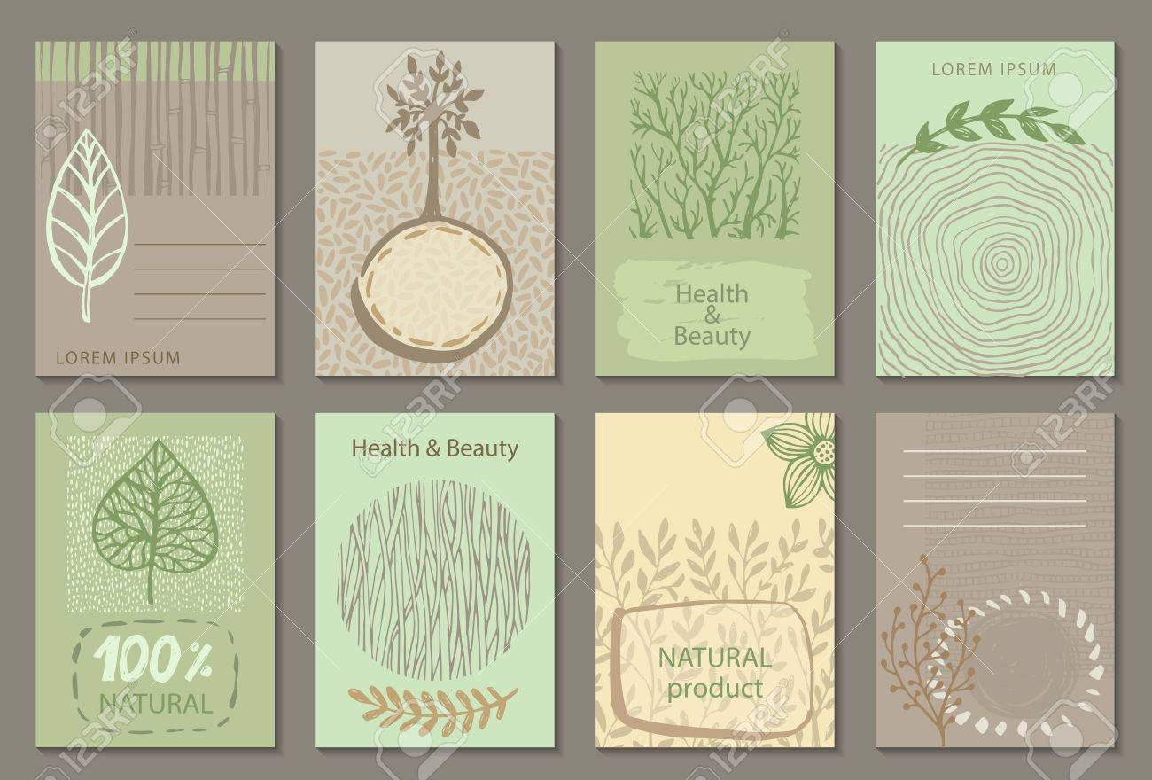 Vector set of eco nature labels or business card templates flyers vector set of eco nature labels or business card templates flyers designs for organic magicingreecefo Images
