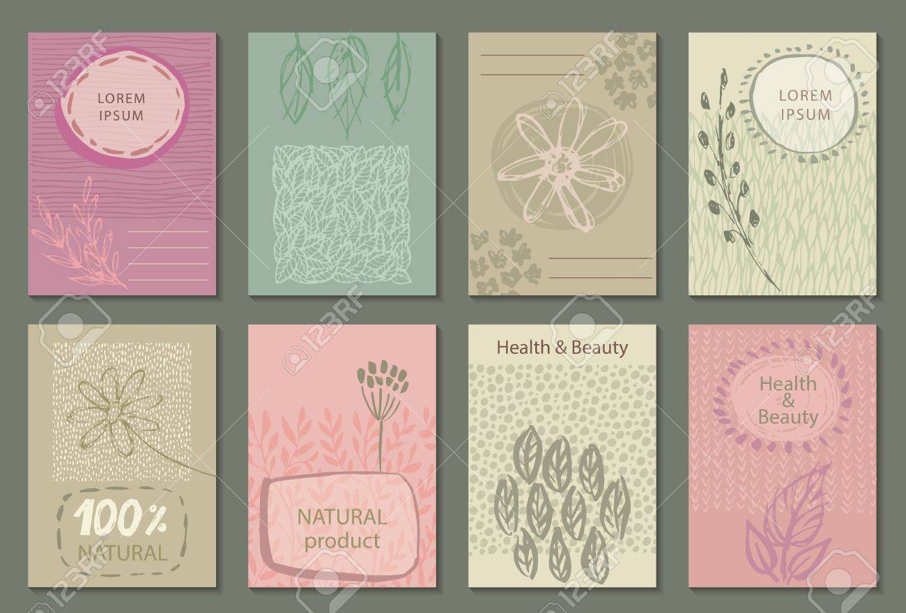 Vector set of eco nature labels or business card templates flyers vector vector set of eco nature labels or business card templates flyers designs for organic natural healthy products ecological posters reheart Images