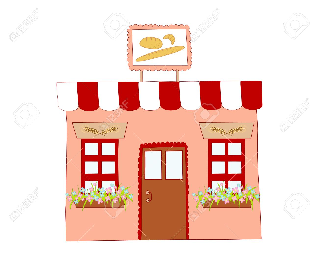 illustration of bakery Stock Vector - 5970118