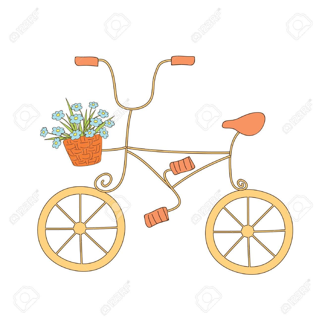自転車のかわいいイラストのイラスト素材ベクタ Image 7386589