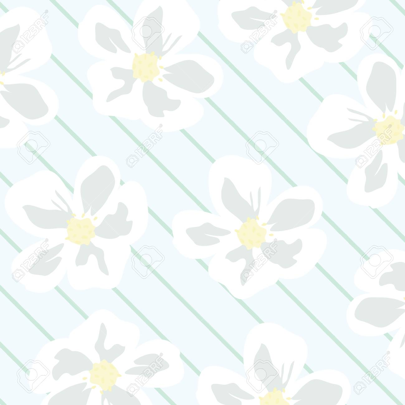 Seamless floral wallpaper pattern Stock Vector - 7417437