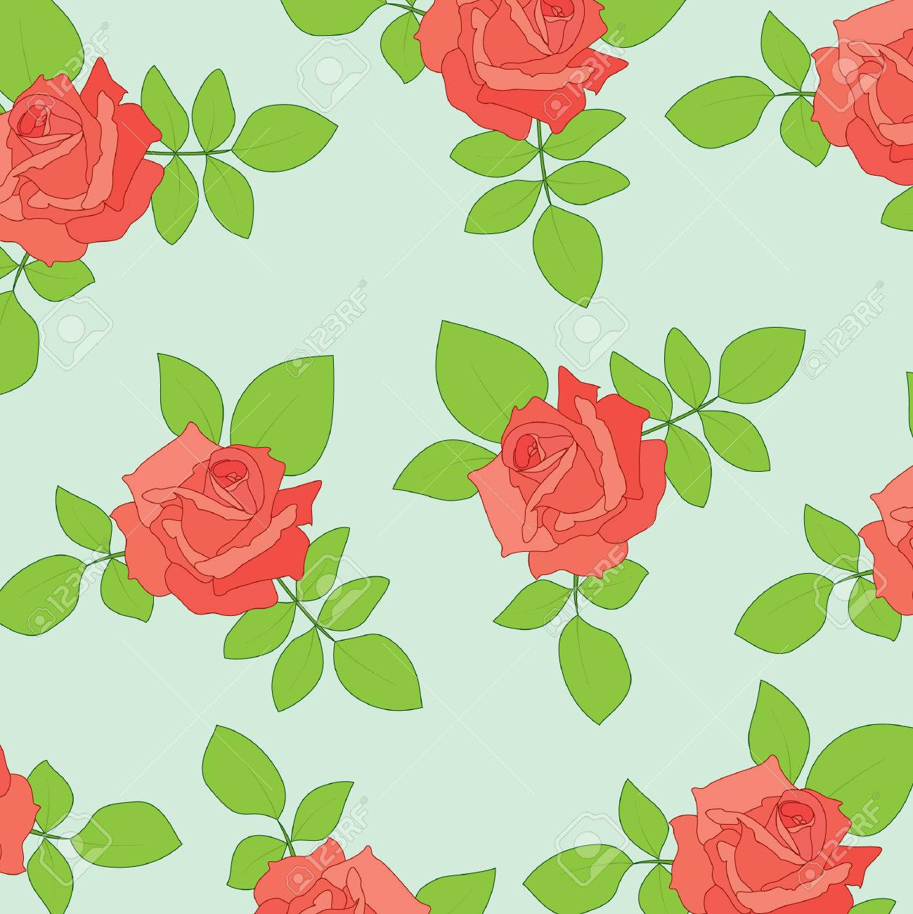Nice seamless with roses Stock Vector - 7541054