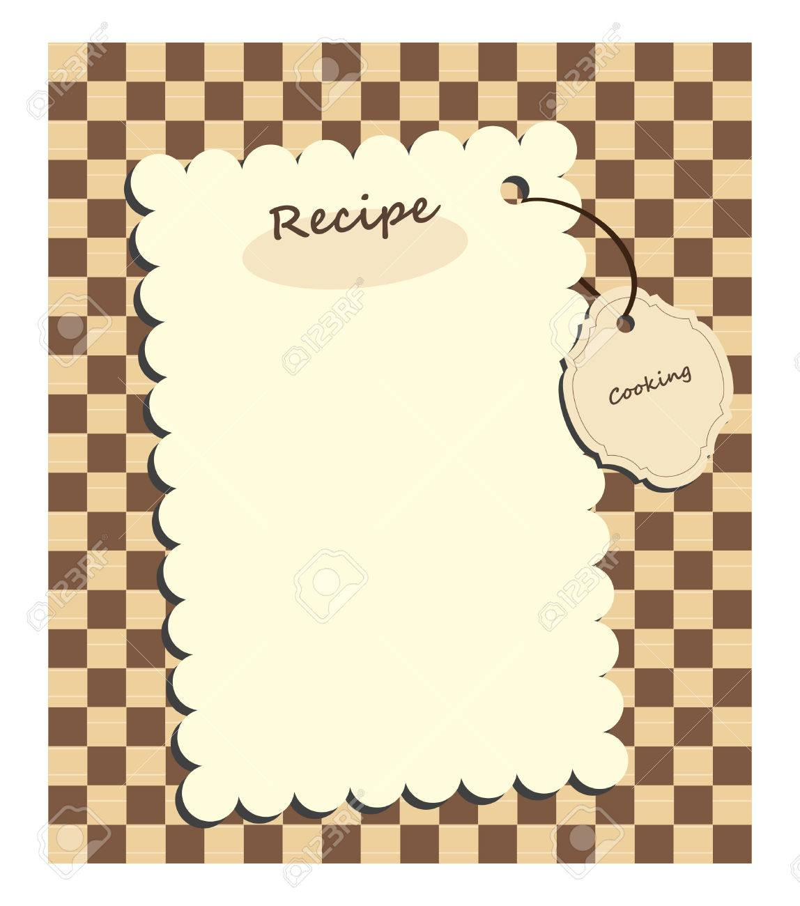 card for recipe Stock Vector - 7718235