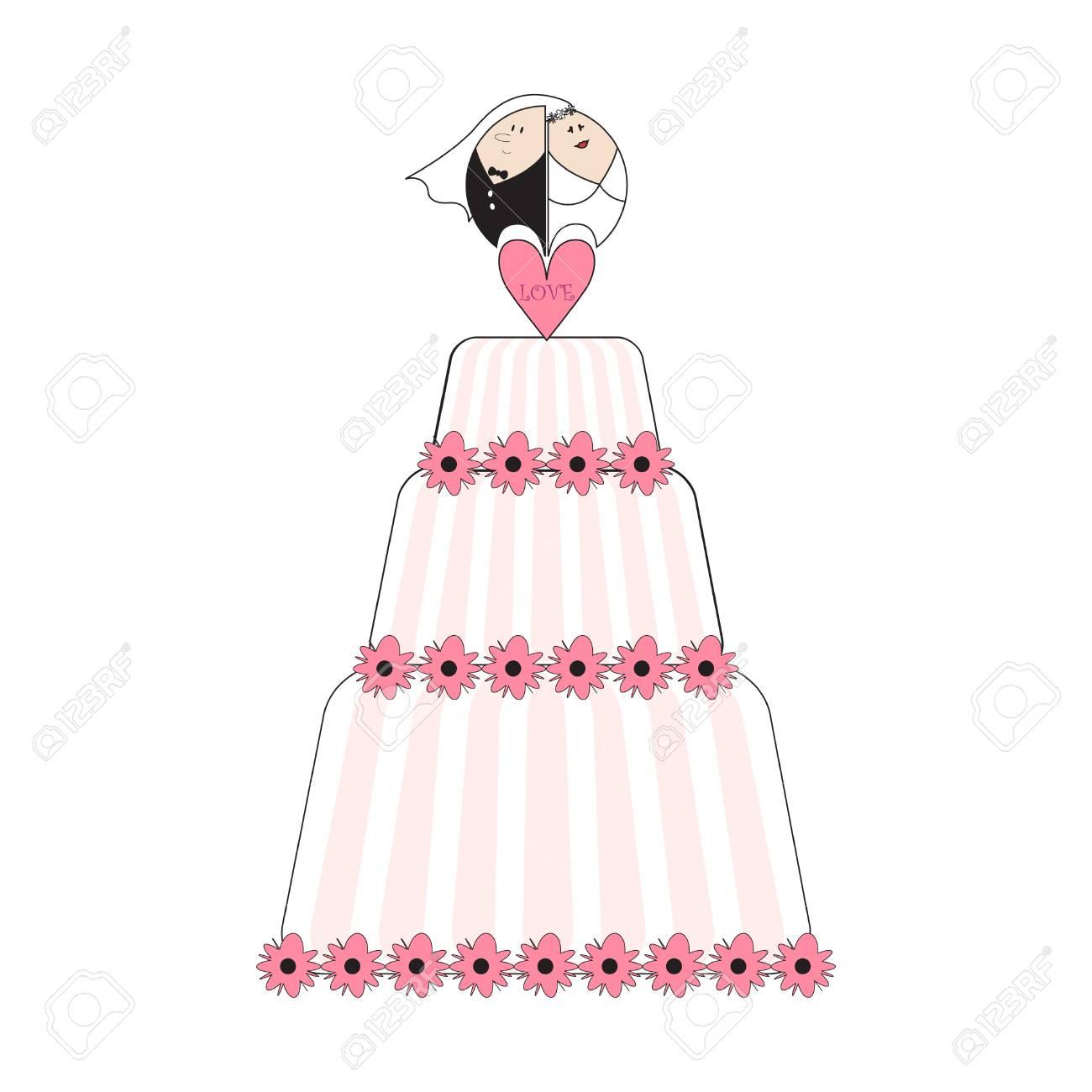 ウエディング ケーキのイラストのイラスト素材ベクタ Image 7742605