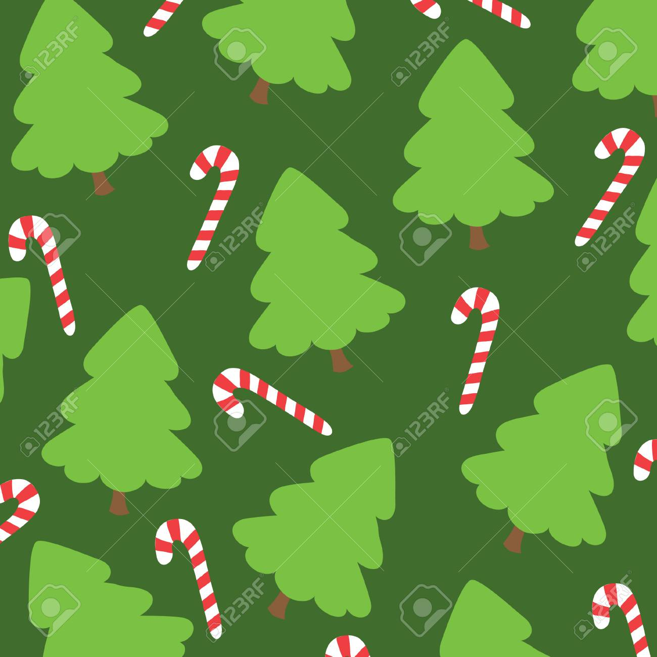 green background with Christmas tree Stock Vector - 8170398