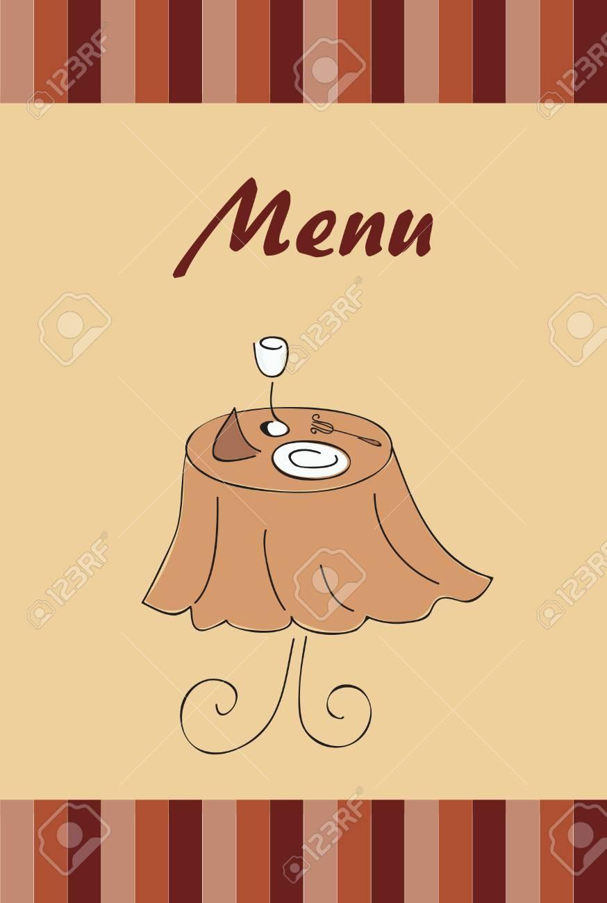 menu for restaurant Stock Vector - 8366251