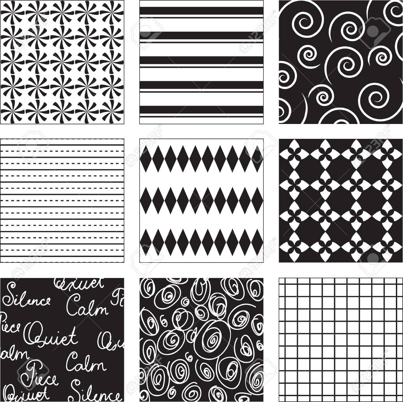 Black and white seamless background Stock Vector - 8546076