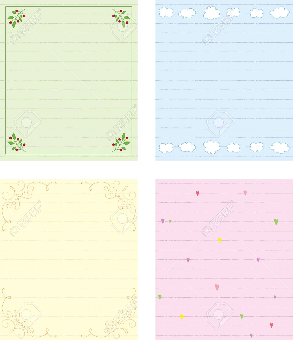 Blank cards template Stock Vector - 8778309