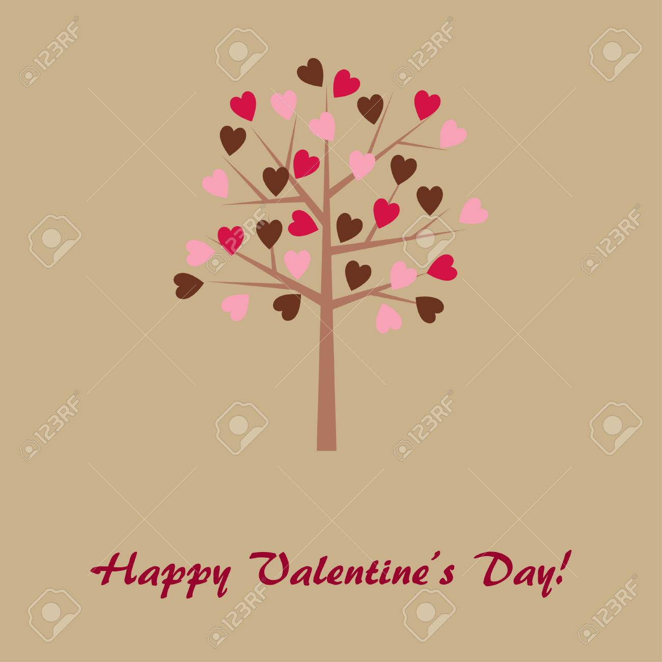 Valentine's Day card Stock Vector - 8778321