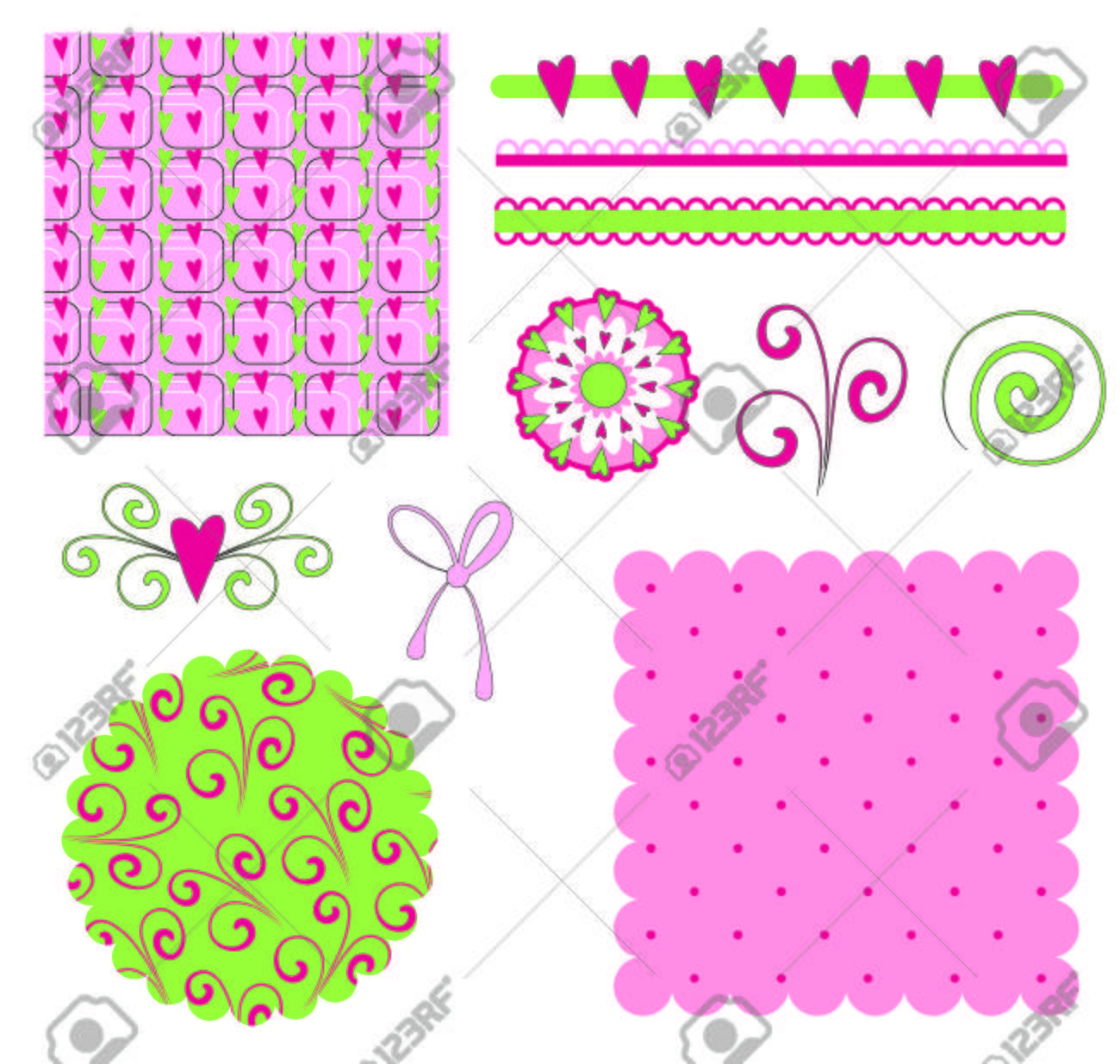 Scrapbooking elements Stock Vector - 8978312