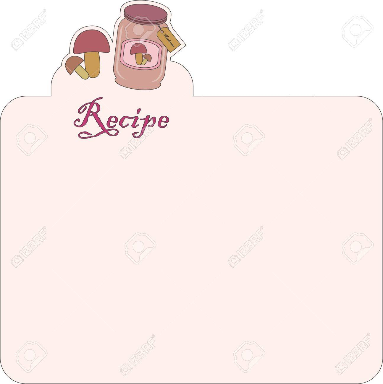 Nice blank paper for recipe Stock Vector - 9692161
