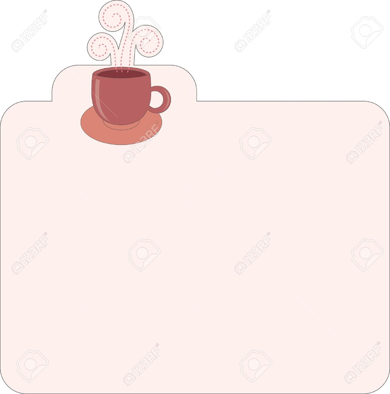 Recipe template for different type of coffee Stock Vector - 9691637