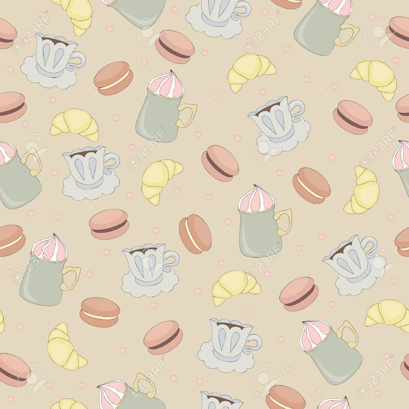 Seamless Wallpaper In Vintage Style