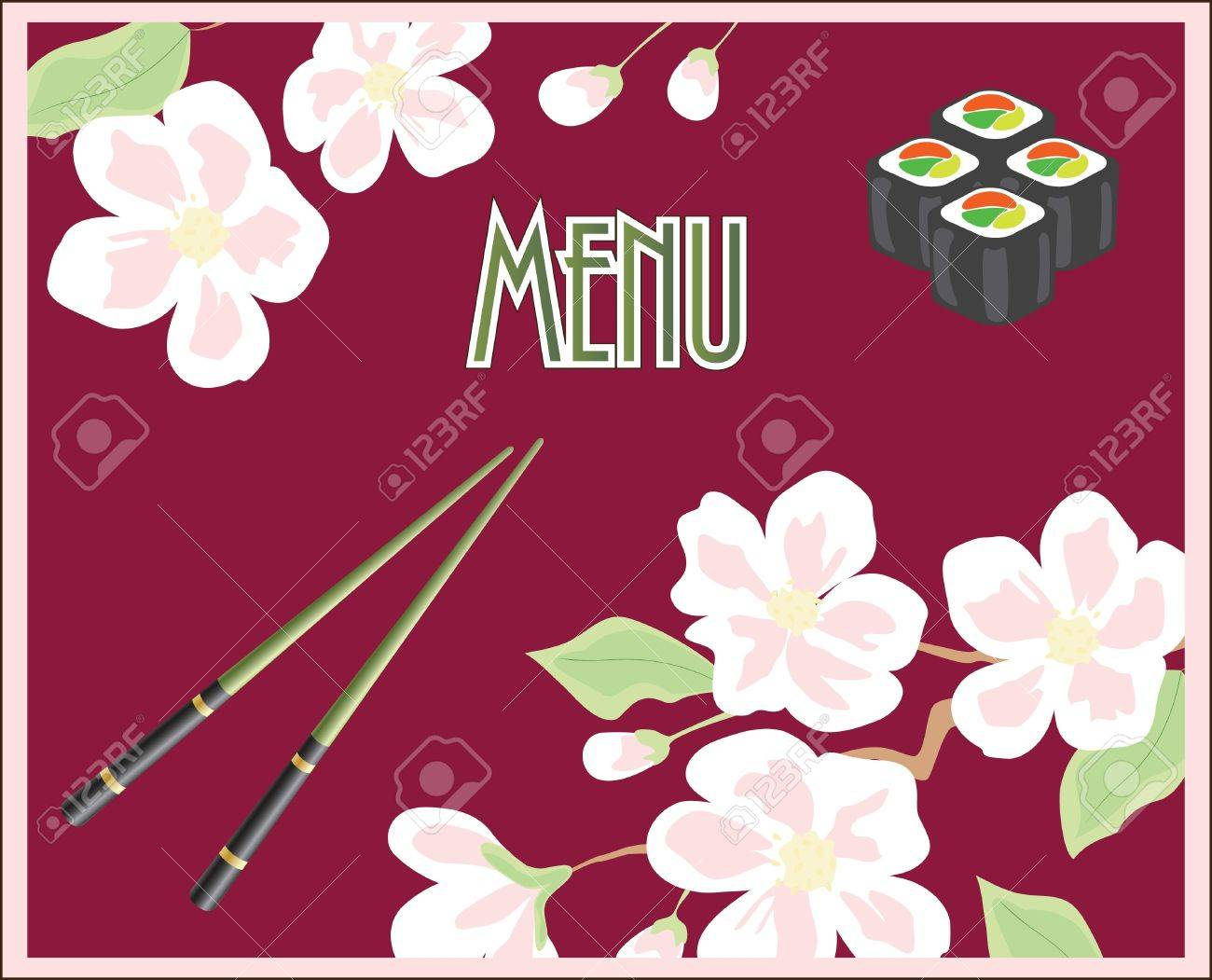 Menu for sushi and rolls Stock Vector - 10860755