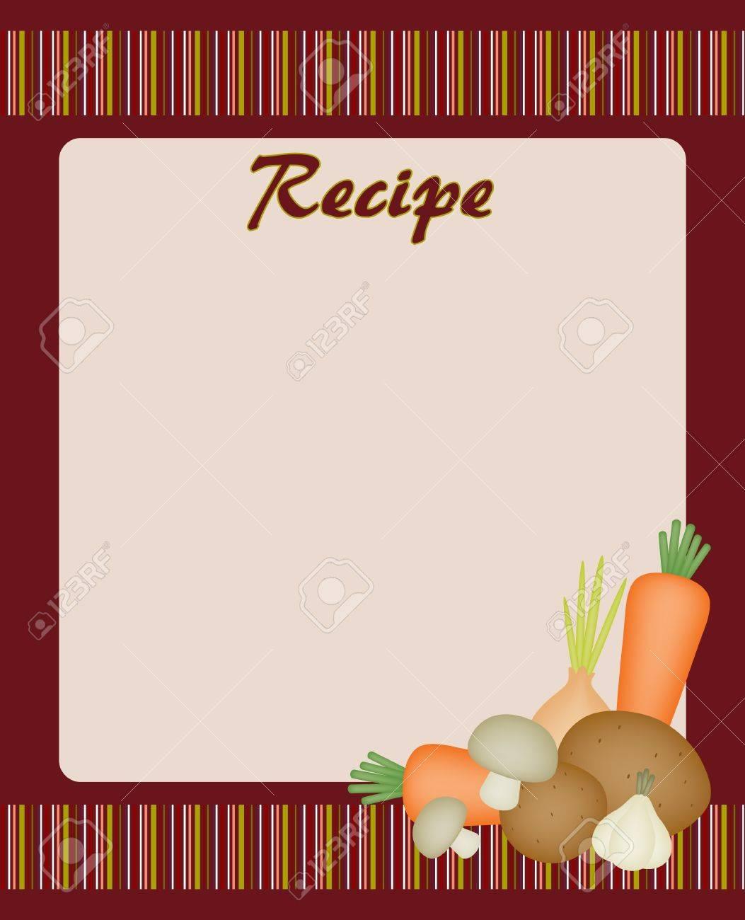 Rezept-Karte Mit Gemüse Lizenzfrei Nutzbare Vektorgrafiken, Clip ...