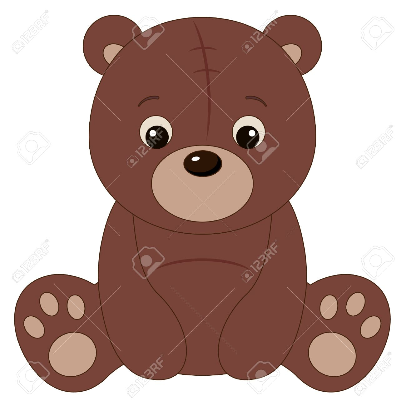 Brown teddy bear Stock Vector - 15825673