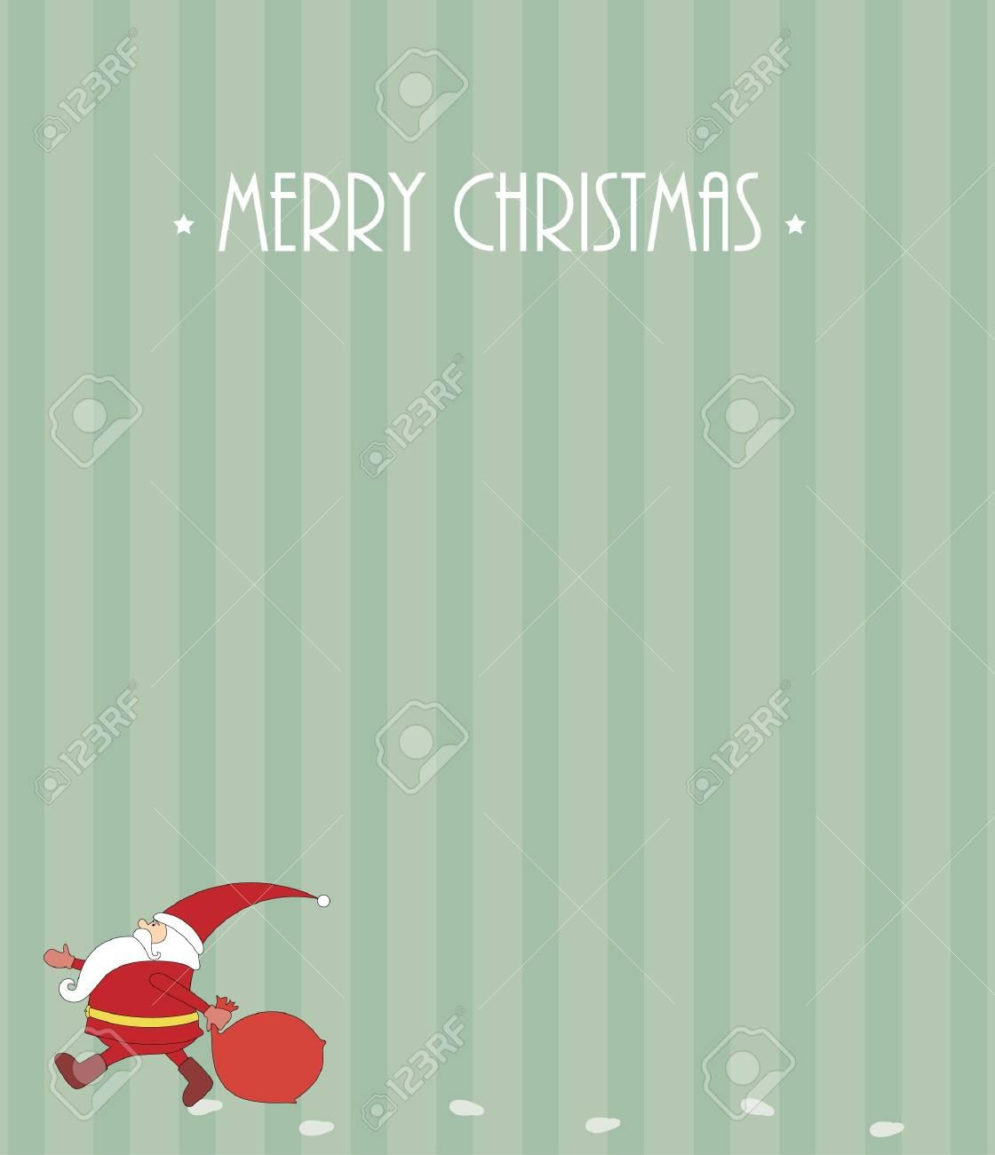 Christmas card with Santa Claus Stock Vector - 16464321
