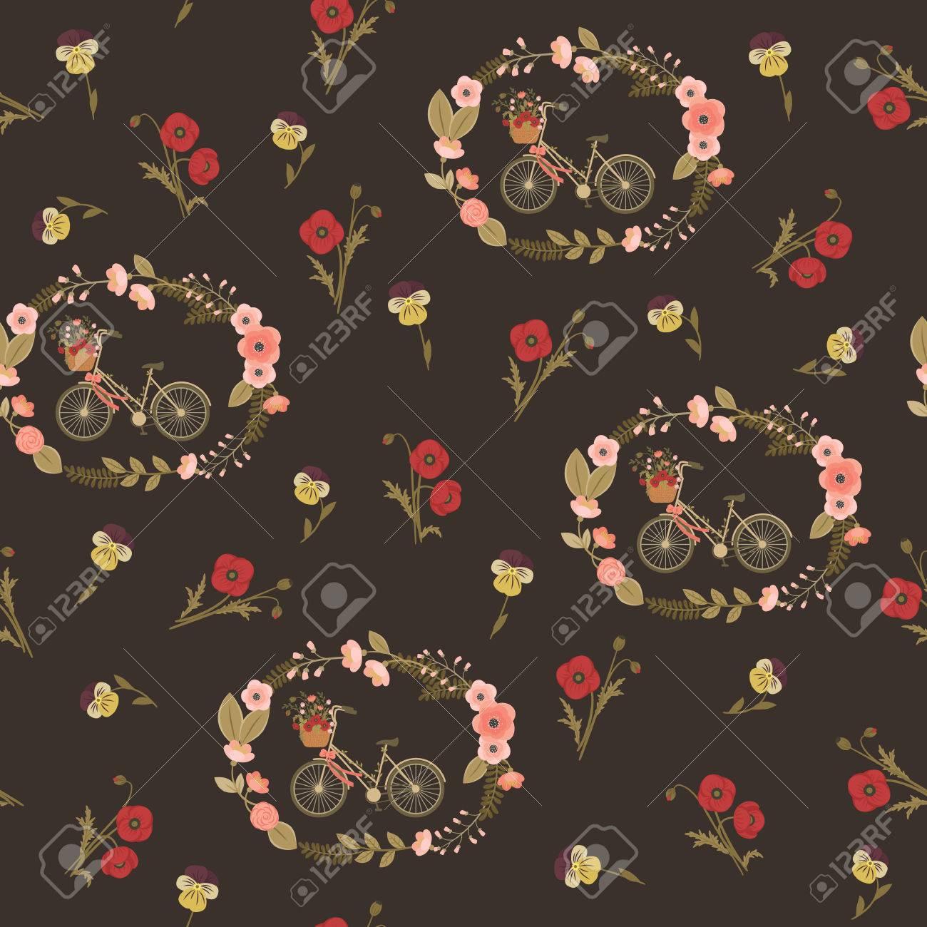 Shabby Chic Motif Floral Transparent Papier Peint Vintage Fleur