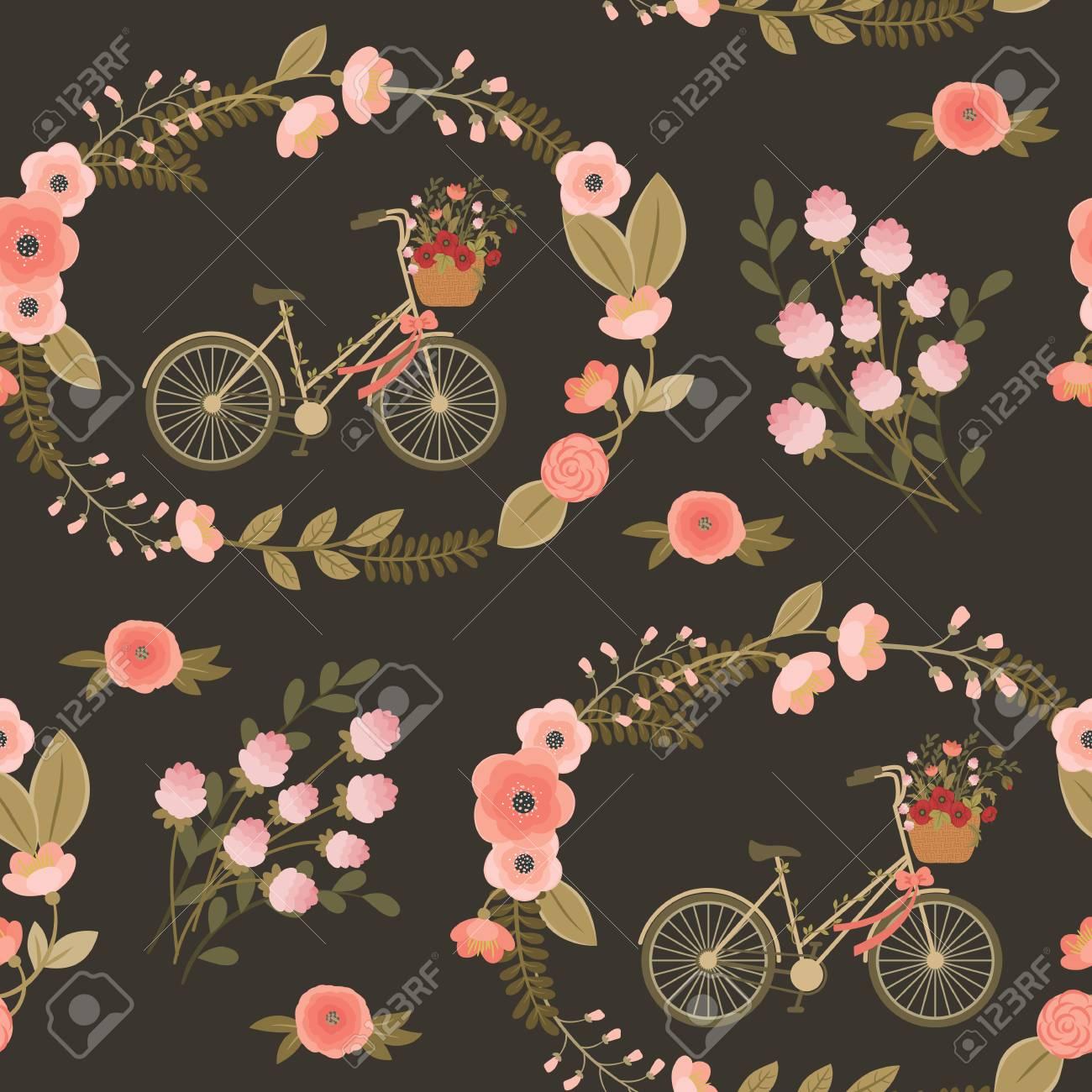 Sin Patron Floral Elegante Lamentable Vintage Fondo De Pantalla