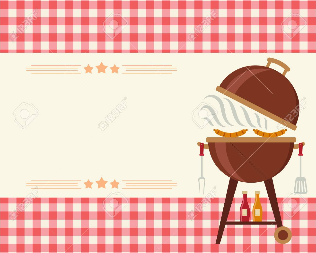 Barbecue Party Blank Invitation. Flyer/card/invitation Template ...