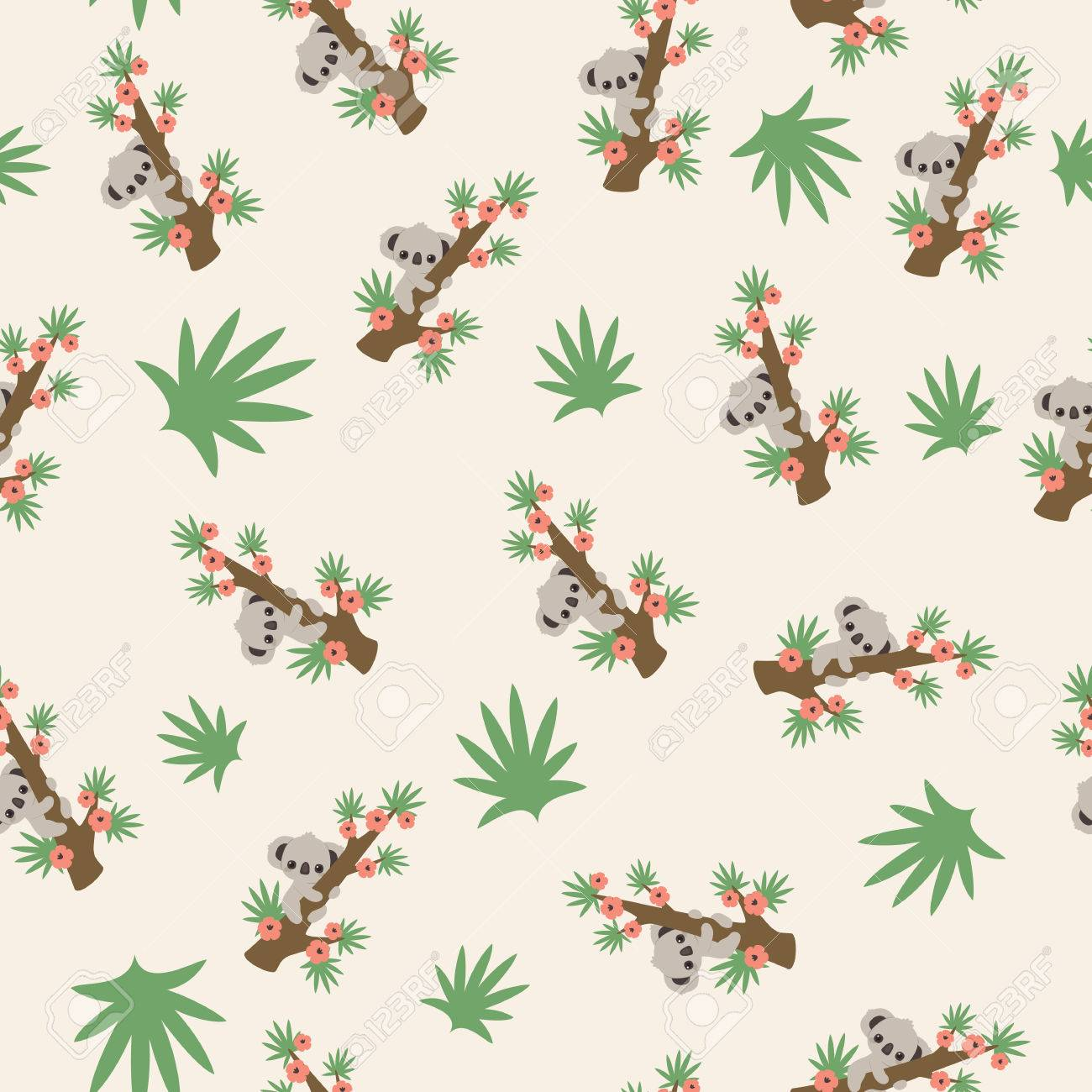 Most Inspiring Wallpaper Koala Cartoon - 84360456-cute-cartoon-koala-on-a-tree-pattern-wallpaper  Pic_94322   .jpg