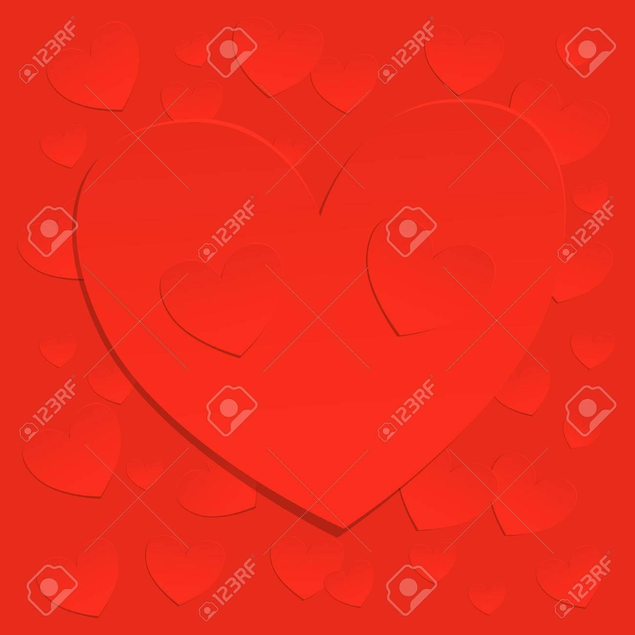 Stilvolle Valentinstag Abstrakten Hintergrund Mit Einem Großen Roten