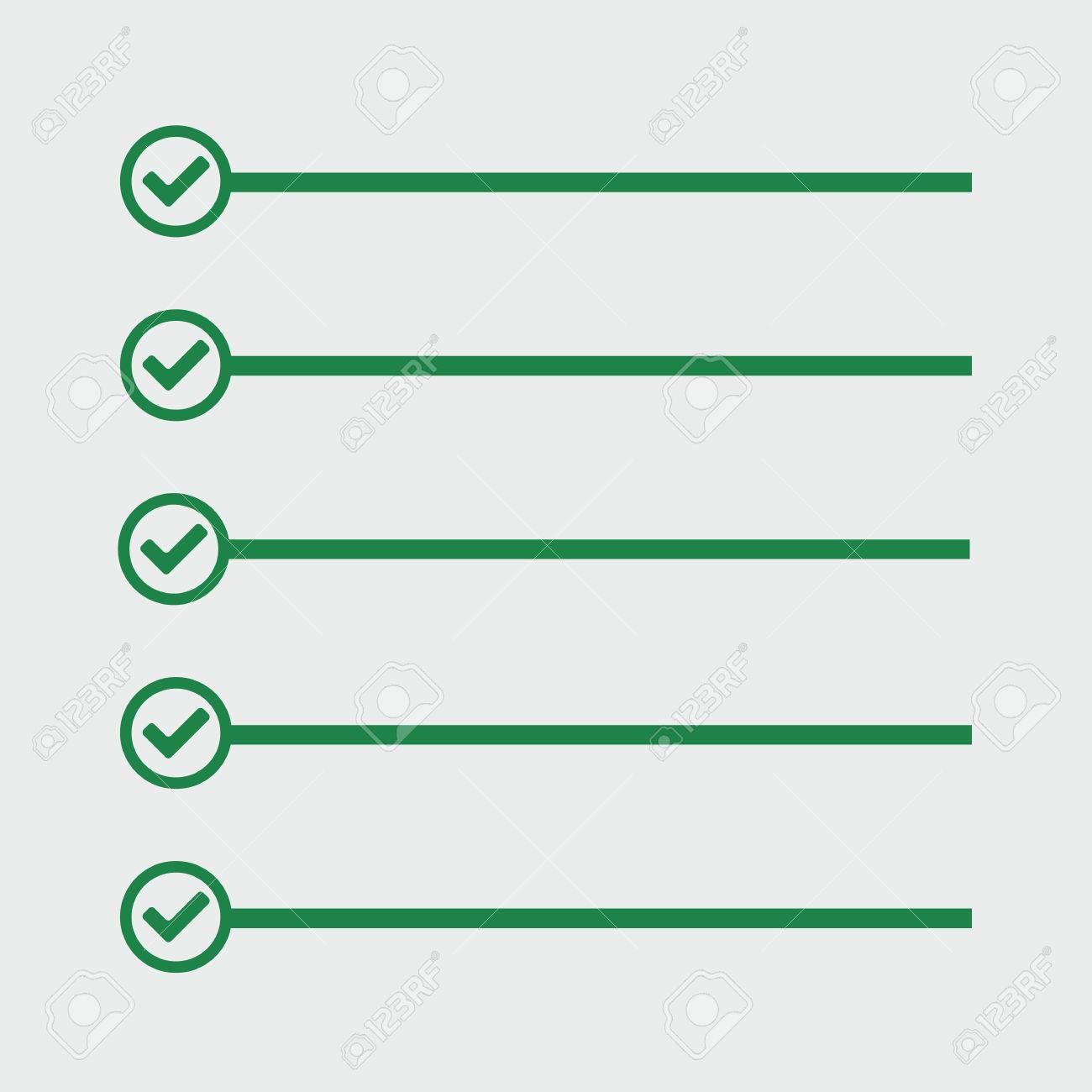 Lista De Quehaceres. Las Líneas Con Casillas De Verificación. Lista ...