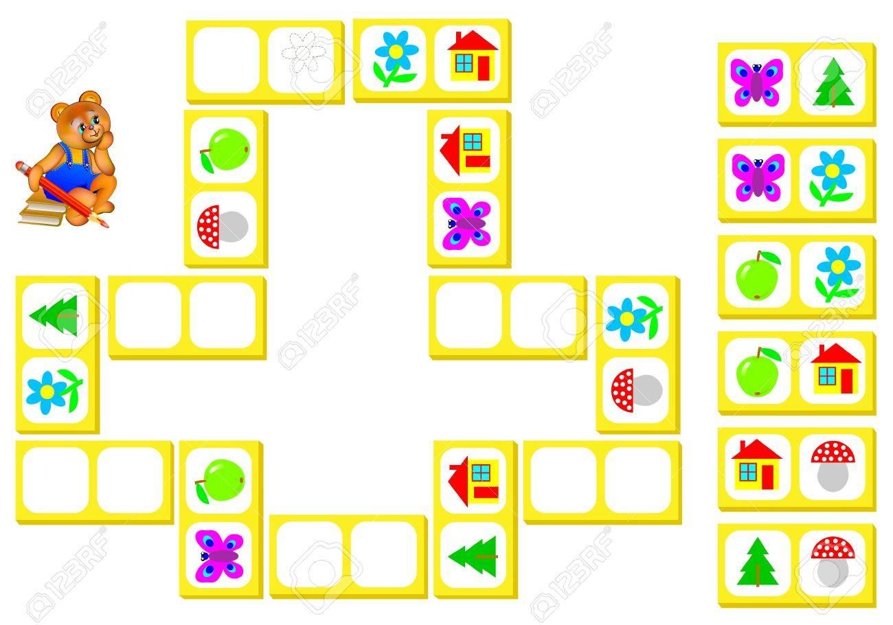 Logic Puzzle Für Kinder. Zeichnen Sie Die Bilder Aus Den ...