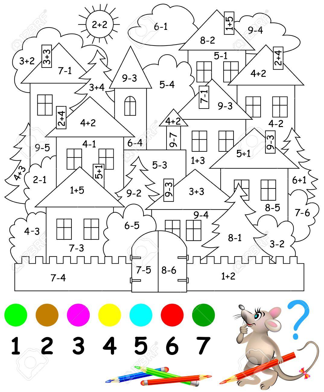 Favoloso Pagina Educativi Con Esercizi Per Bambini Su Addizione E  CW72