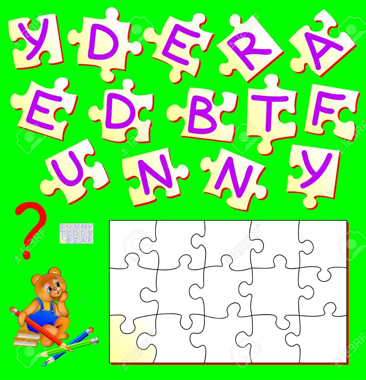 Logik-Puzzle-Spiel Für Studie Englisch. Benötigen Sie Die Richtige ...