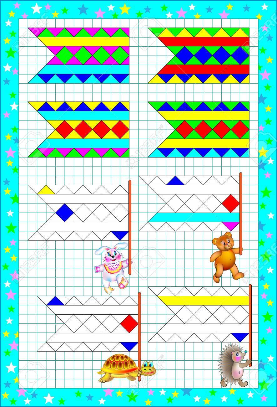 Logik Puzzle übungen Für Kleine Kinder Auf Einem Quadratischen