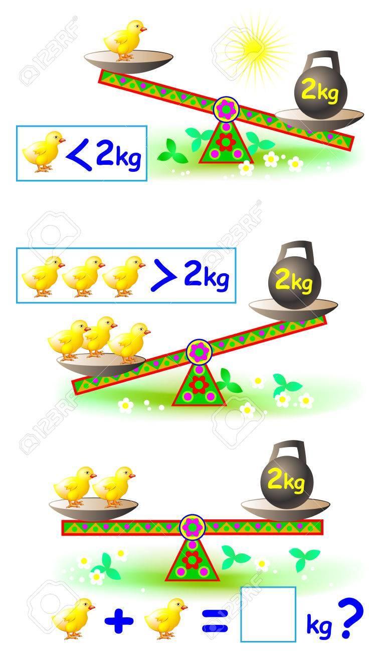 Página Con Ejercicios Matemáticos Para Niños Pequeños. Hoja De ...