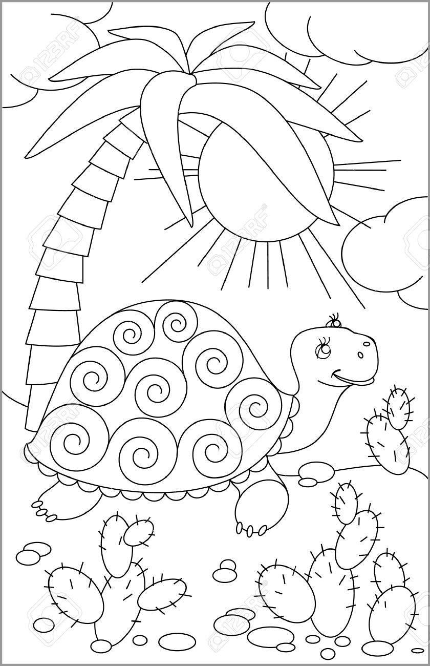 Seite Mit Schwarz-weißer Zeichnung Von Zwerg Zum Färben. Entwicklung ...