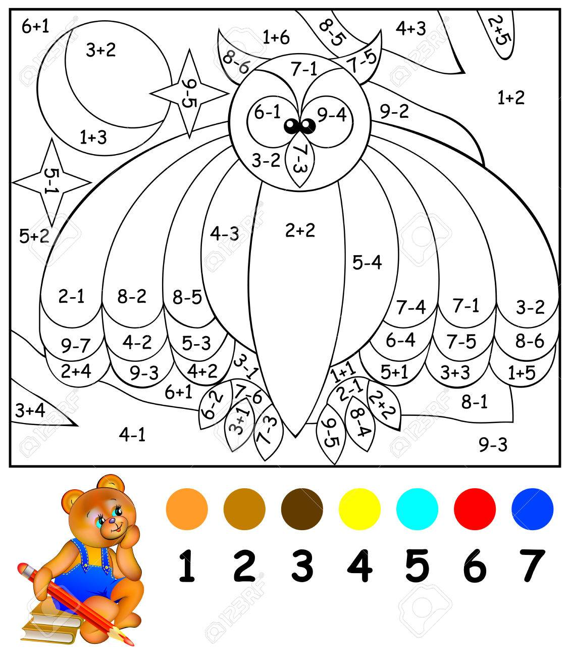 exercises for children need to paint image in relevant color developing skills for counting - Pictures To Paint For Children