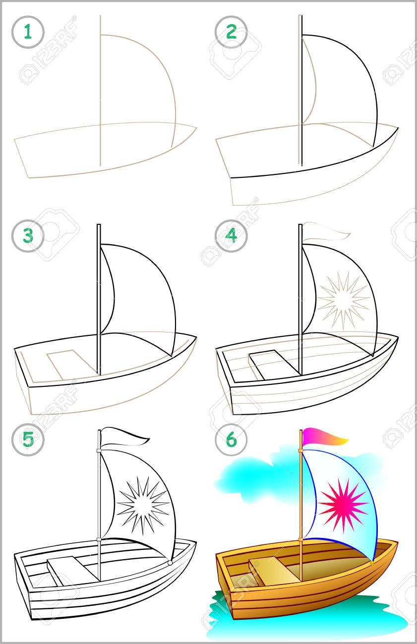 Amato La Pagina Mostra Come Imparare Gradualmente Per Disegnare Una  LR82