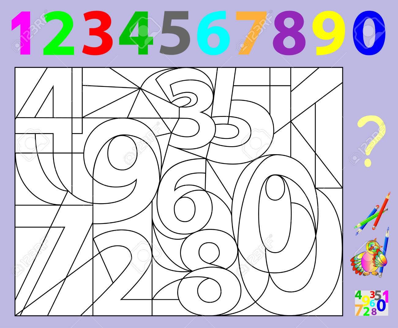 Lernseite Für Kleine Kinder. Müssen Die Versteckten Zahlen Finden ...