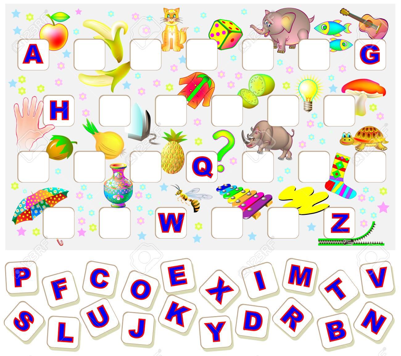 Hoja De Trabajo Para Niños Con Ejercicio Para Estudiar El Alfabeto ...